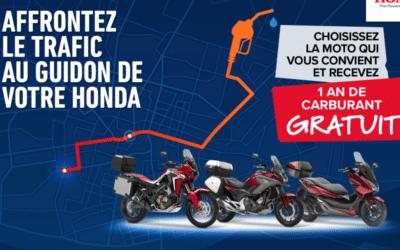 Honda vous offre 1 AN DE CARBURANT GRATUIT