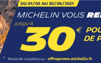 Michelin : Cashback jusqu'à 30€